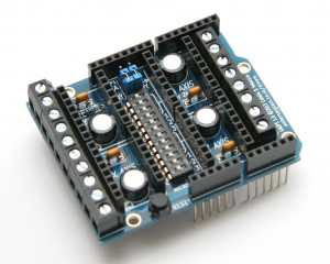 GAUPS 1.0 stepper shield assembled