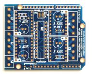 GAUPS Arduino-compatible Stepper Shield, PCB only