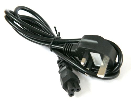 Power cord, UK plug to IEC C5 connector, 1.8m