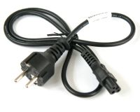 Power cord, EU plug to IEC C5 connector, 0.8m