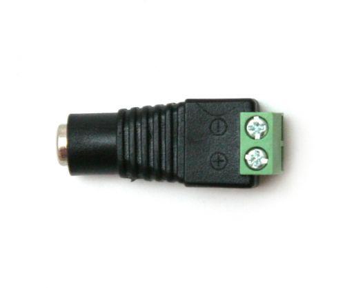 Power jack to screw terminal adapter