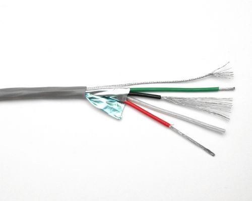 Stepper cable, 4 core 18 AWG, shielded