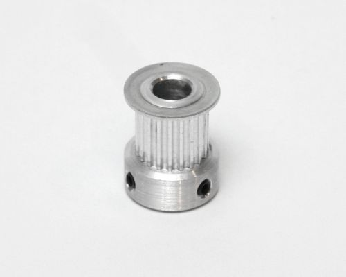 Belt pulley, 20 tooth, 0.25in (6.35mm) bore, for 9mm wide GT2 belt