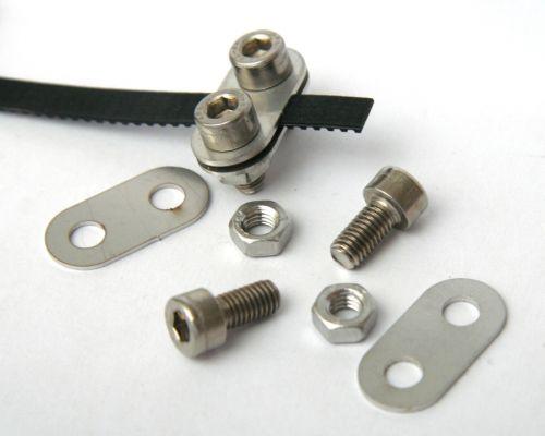 Belt clamps, set of 2