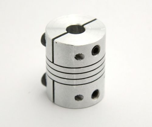 Flexible coupler, 5mm to 6.35mm (1/4