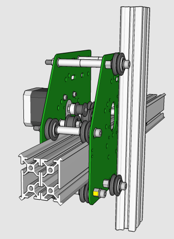 EShapeoko 1.2 assembly X carriage and rail.png